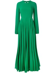 N 21 No21 Pleated Skirt Long Dress Green