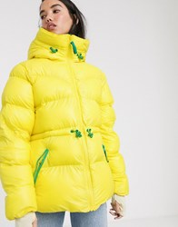 Hunter Original Borg Lined Puffer Coat Yellow