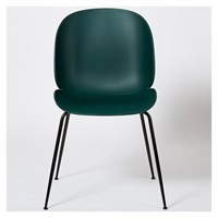 Gubi Beetle Dining Chair Un Upholstered Green And Black