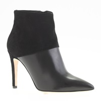 J.Crew Collection Leather And Suede Ankle Boots Black