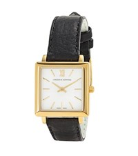 Larsson And Jennings Norse Square Gold Plated Watch Black
