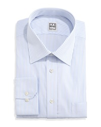 Ike By Ike Behar Long Sleeve Fancy Stripe Dress Shirt Blue Bay