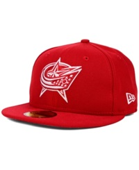 New Era Columbus Blue Jackets C Dub 59Fifty Cap Red