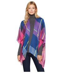 Collection Xiix Color Block Plaid Ruana Bright Multi Clothing