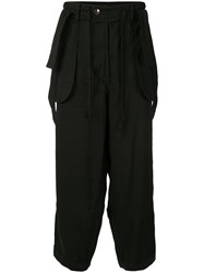 Ziggy Chen Reverse Suspender Trousers Black