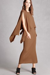 Forever 21 Layered Maxi Dress Camel