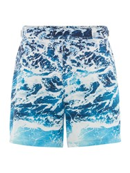 Linea Men's Photographic Wave Print Swim Shorts Blue