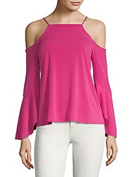 Laundry By Shelli Segal Cold Shoulder Bell Sleeve Top Very Berry