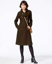 Rachel Rachel Roy Double Breasted Military Maxi Coat Loden