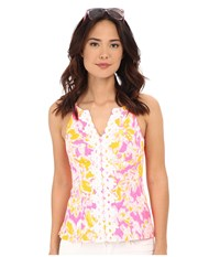 Lilly Pulitzer Magnolia Top Kir Royal Pink Ooh La La Women's Sleeveless