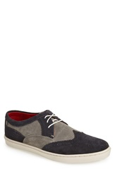 Base London 'Anglo' Suede Sneaker Men Navy Grey Suede
