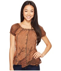 Scully Honey Creek Caitlyn Top Copper Women's Blouse Bronze