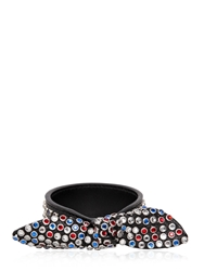 Saint Laurent Multicolor Studs On Leather Bracelet