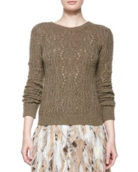 Ralph Lauren Collection Textured Cashmere Crewneck Sweater