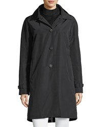 Jane Post 3 In 1 Button Front Rain Coat Black