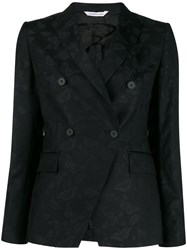 Tonello Fitted Double Breasted Blazer Black
