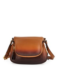 Tom Ford Jennifer Medium Shaded Leather Shoulder Bag Cognac Ombre