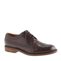 J.Crew Ludlow Wing Tips Cigar Brown