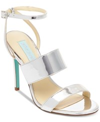 Blue By Betsey Johnson Jenna Strappy Evening Sandals Women's Shoes Silver