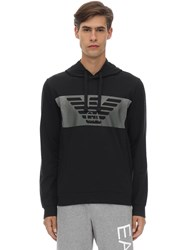 Emporio Armani Train Graphic Cotton Sweatshirt Hoodie Black