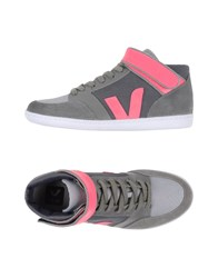 Veja Footwear High Tops And Trainers Women Grey