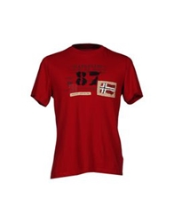 Napapijri T Shirts Red