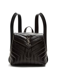 Saint Laurent Loulou Small Leather Backpack Black