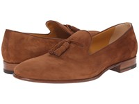 A. Testoni Deluxe Suede Tassle Loafer Caramel Men's Slip On Shoes Brown