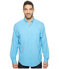 Columbia Tamiami Ii L S Yacht Men's Long Sleeve Button Up Blue