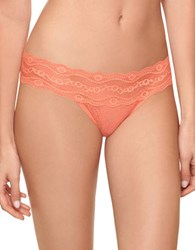 B.Tempt'd Lace Kiss Thong Coral Heather