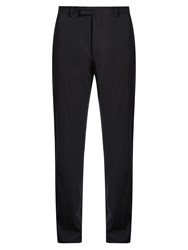 Valentino Straight Leg Wool Trousers Navy