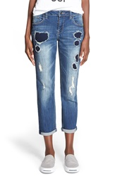 Lee Cooper Distressed Rolled Boyfriend Jeans Worth
