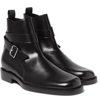 Balenciaga Leather Jodhpur Boots Black