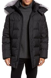 Andrew Marc New York Men's Altitude Quilted Down Jacket With Genuine Fox Fur Trim Hood