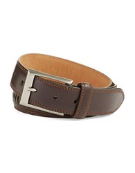 Cole Haan Whitefield Leather Belt Chocolate
