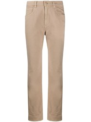 Brunello Cucinelli High Rise Straight Jeans Neutrals