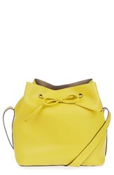Topshop Stella Faux Leather Bucket Bag Yellow