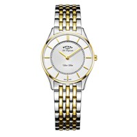 Rotary Women's Les Originales Ultra Slim Bracelet Strap Watch Gold Silver