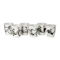 Pols Potten Bikes Cup Set Of 6