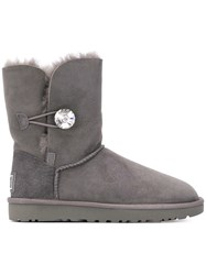 Ugg Australia Bailey Button Bling Boots Grey