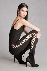 Forever 21 Lace Up Cami Jumpsuit Black