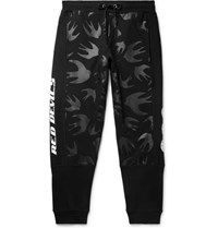 Mcq By Alexander Mcqueen Tapered Logo Print Loopback Cotton Jersey Sweatpants Black