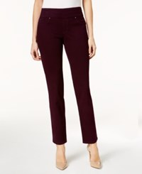 Charter Club Cambridge Pull On Slim Leg Jeans Created For Macy's Damask Plum