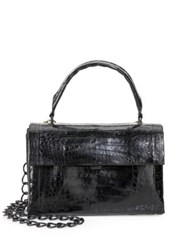 Nancy Gonzalez Textured Top Handle Bag Black