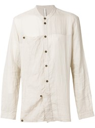 Barbara I Gongini Linen Shirt Nude And Neutrals