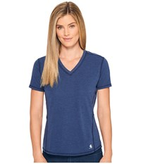 Carhartt Force Ferndale T Shirt Indigo Heather Women's T Shirt Blue