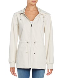 Bernardo Water Resistant Hooded Jacket Beige