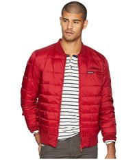 Members Only Down Blend Quilted Puffer Jacket Red Coat