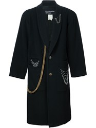 Enfants Riches Deprimes Long Chain Coat Black