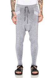 Baja East Stretch Cotton Plated Rib Harem Pants In Gray
